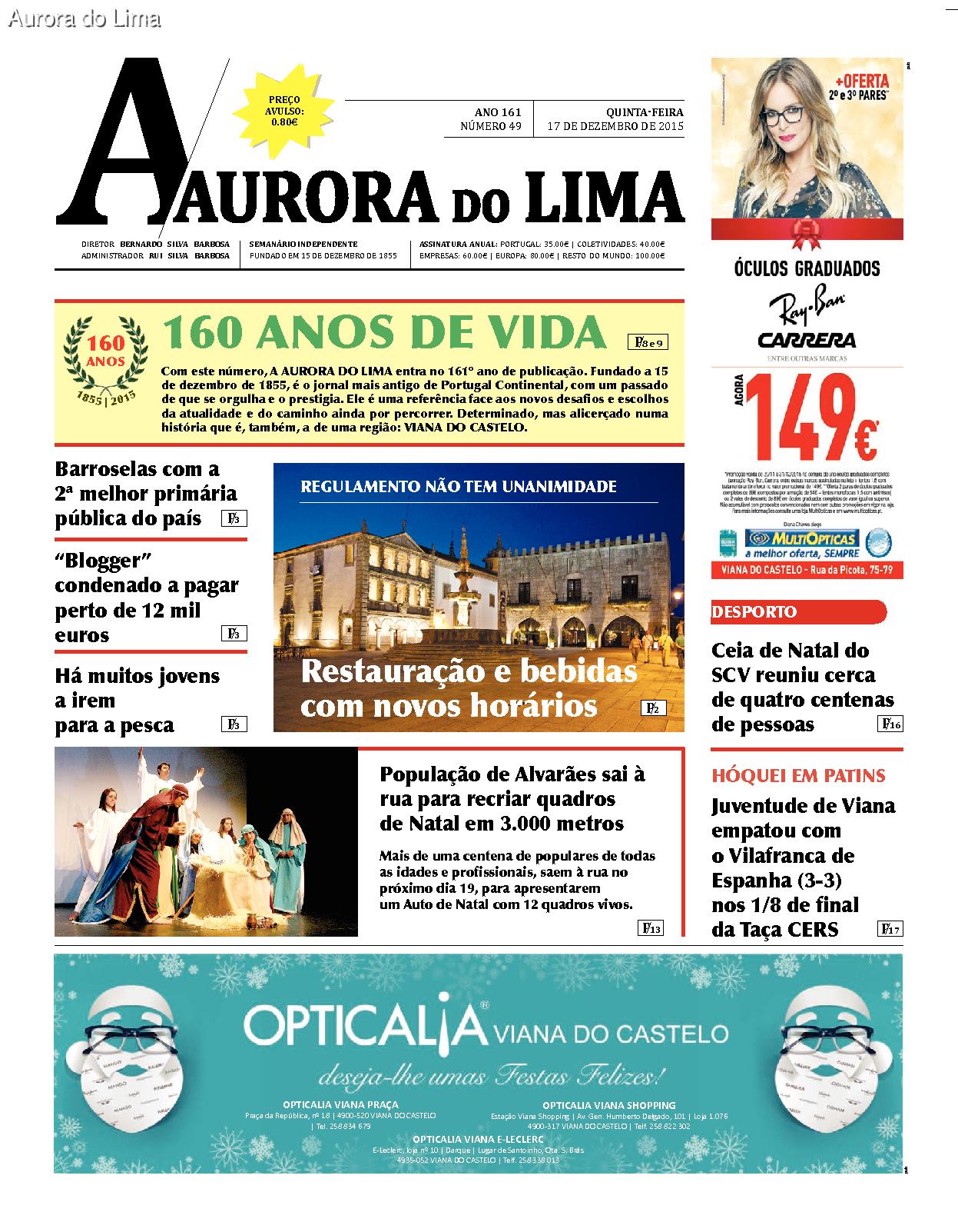 """Com 160 anos de vida Jornal Aurora do Lima """"promete continuar enquanto for sustentável""""."""