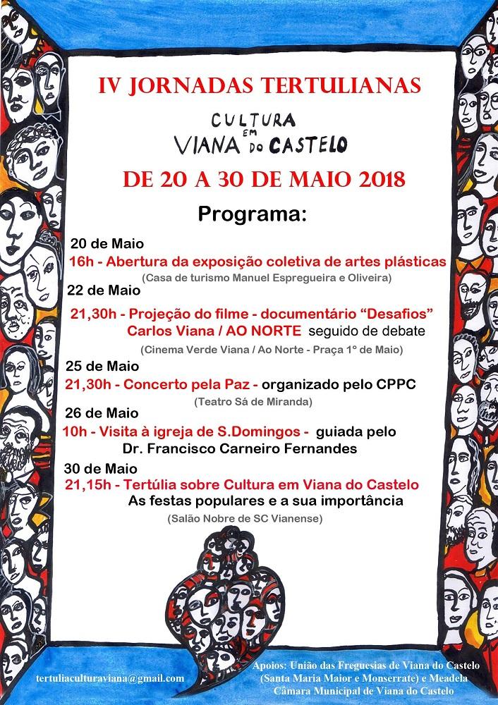 IV Jornadas Tertulianas de Viana começam no domingo com exposição de artes plásticas