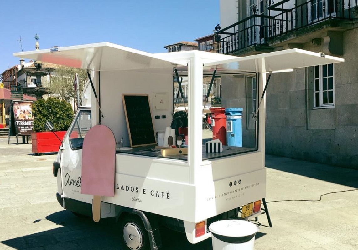 Amélia, o negócio sobre rodas que leva gelados artesanais  às ruas de Ponte de Lima