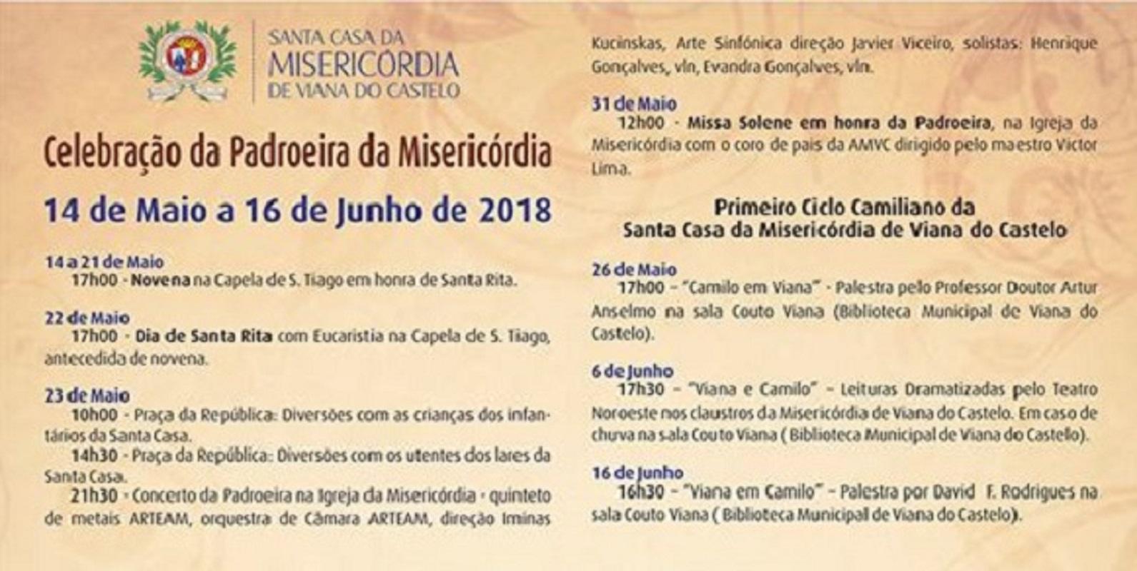 Santa Casa de Viana festeja padroeira da Misericórdia
