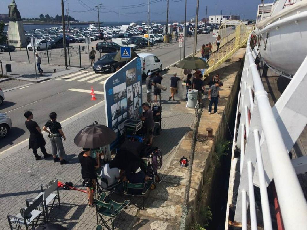 Filmagens de Tiro e Queda decorrem a bordo do Gil Eannes