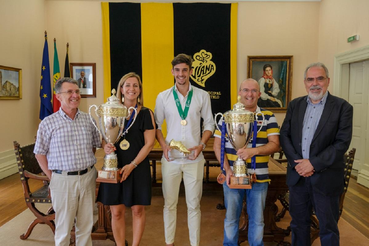Francisco Trincão, Vânia Franco e Henrique Correia recebidos na Câmara de Viana