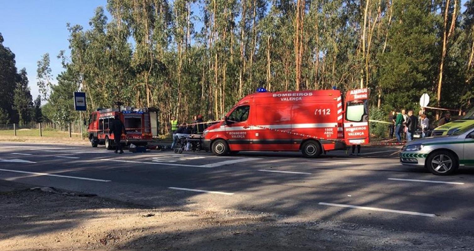 Colisão entre ligeiro e camião faz um ferido em Valença