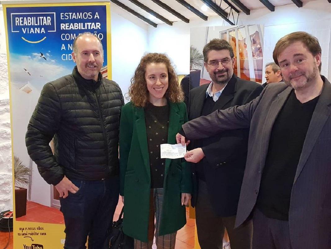 Empresa de reabilitação urbana oferece 1.500 euros a instituições de Viana