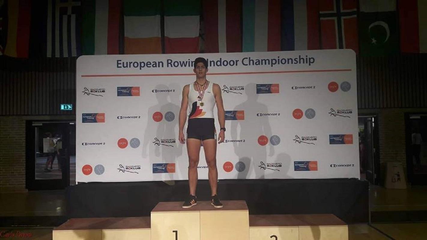 André Pinto é Campeão da Europa de Remo Indoor