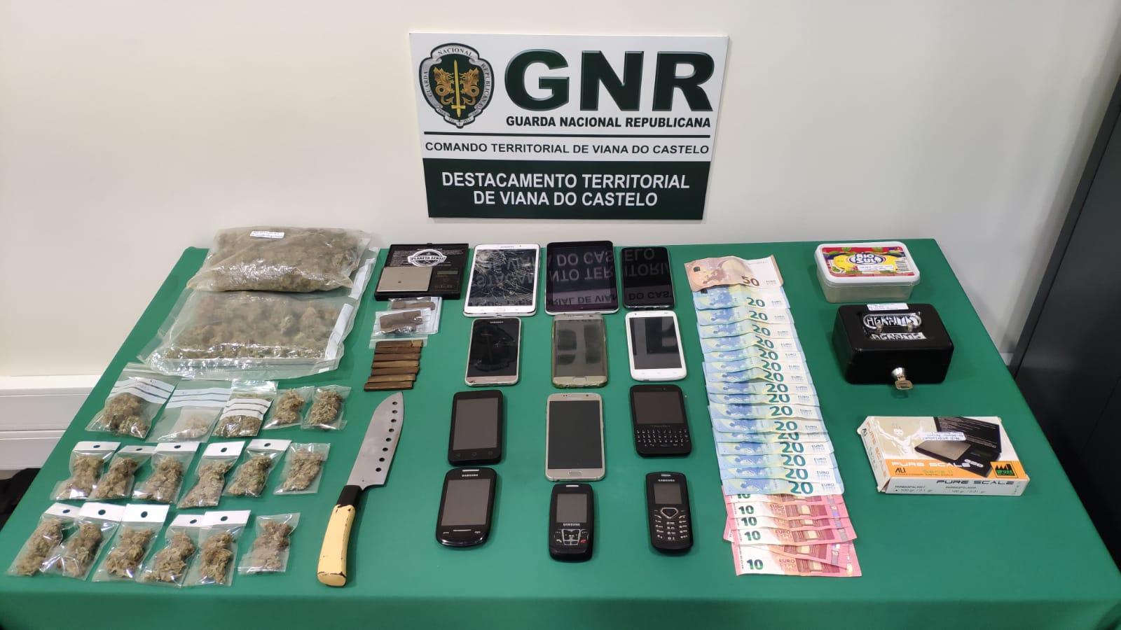 GNR detém dois homens por tráfico de estupefacientes em Viana