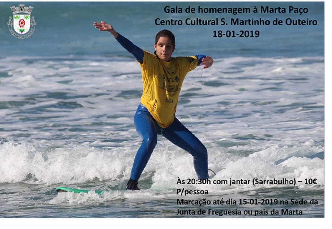 Outeiro homenageia Marta Jordão Paço com uma gala no dia 18