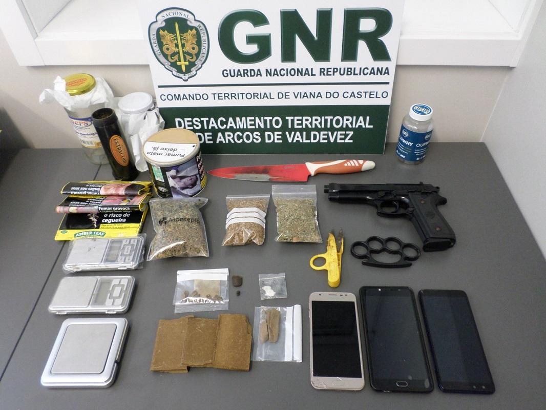Homem de 29 anos detido por tráfico de estupefacientes em Ponte de Lima