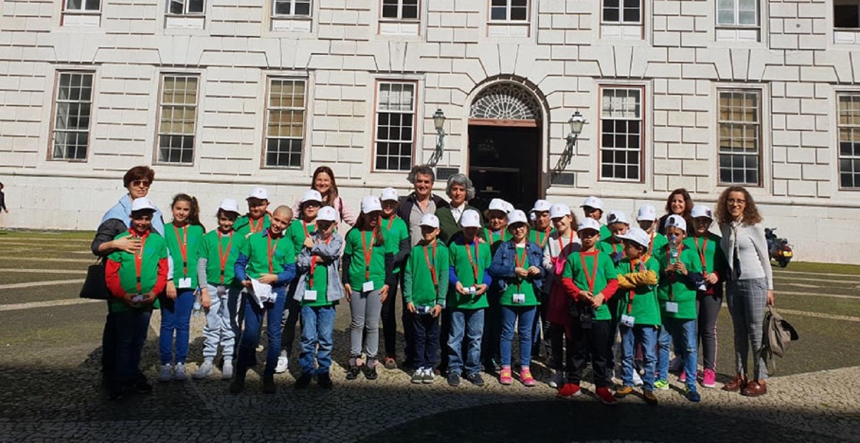 Alunos de Alvarães visitam Lisboa e são recebidos pela Ministra da Cultura