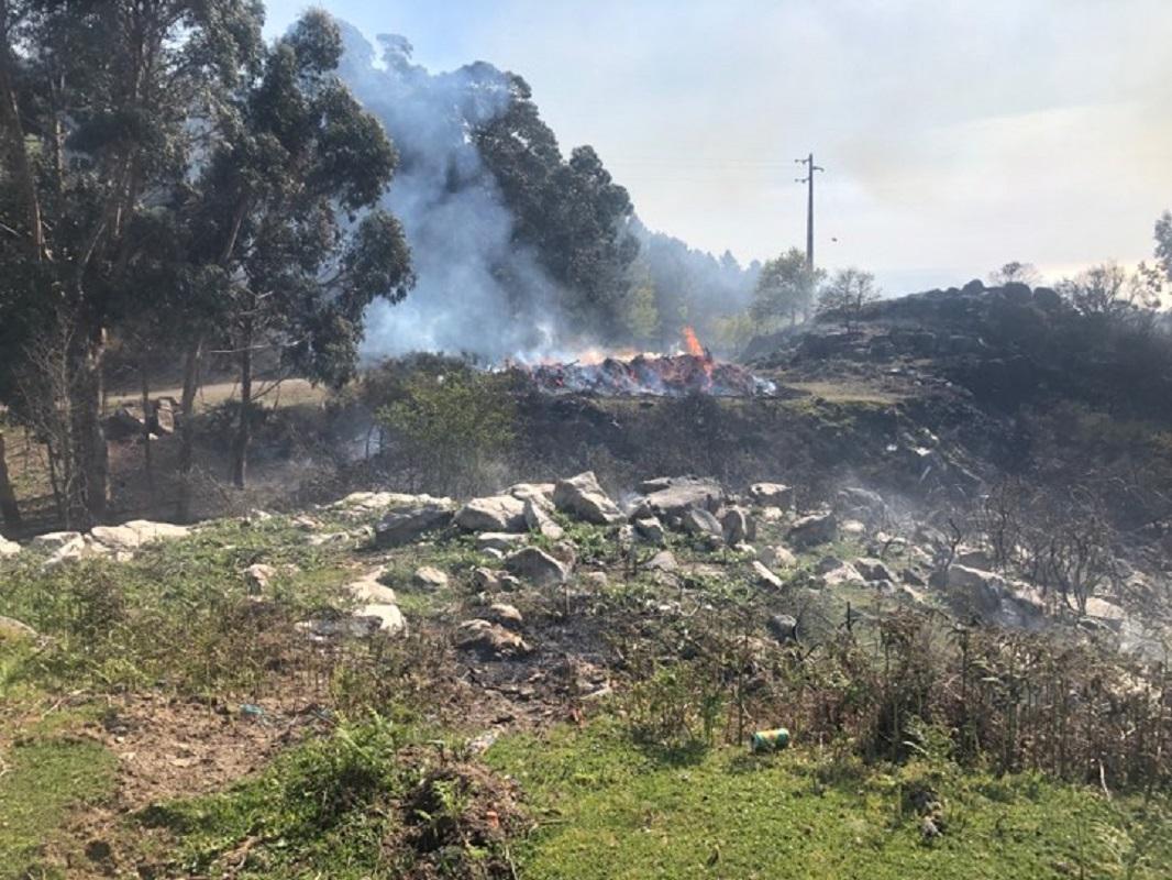 Homem de 64 anos detido por alegadamente ter provocado incêndio florestal em Arcos de Valdevez