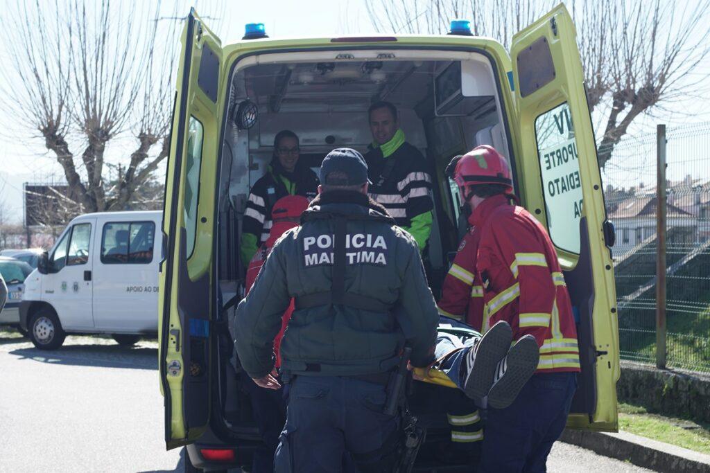 Simulacro de colisão entre Canadair e Santa Rita de Cássia faz dois feridos graves