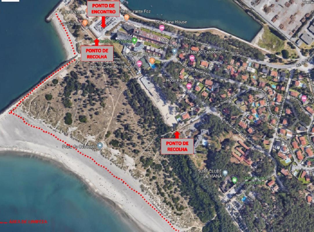 Mais de 100 bancários de Viana e Braga limpam praia do Cabedelo