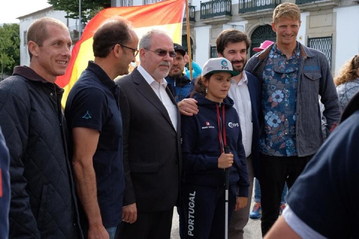 Viana recebeu desfile do Campeonato Europeu de Surf Adaptado