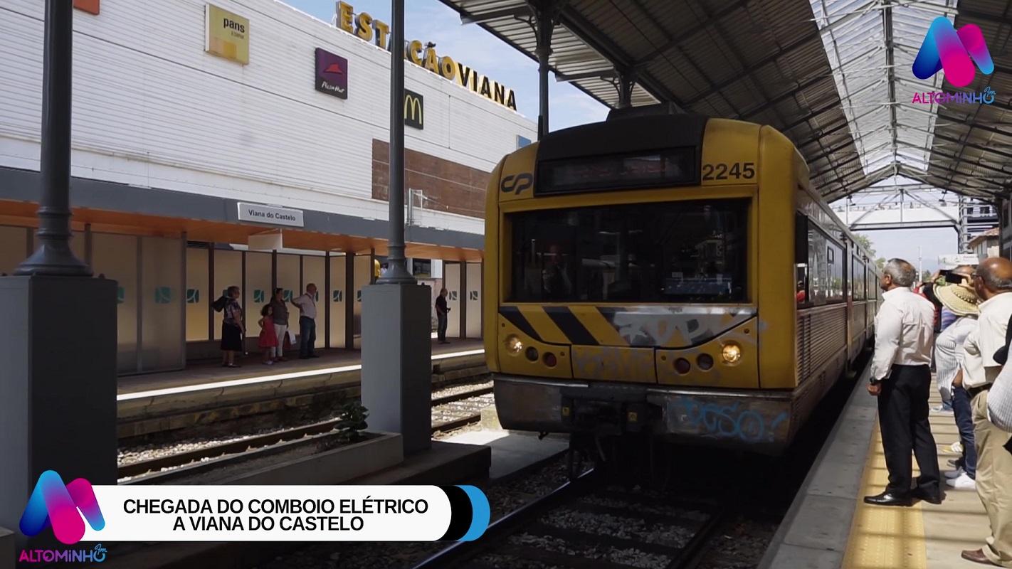 Vídeo: Chegada do comboio elétrico a Viana do Castelo