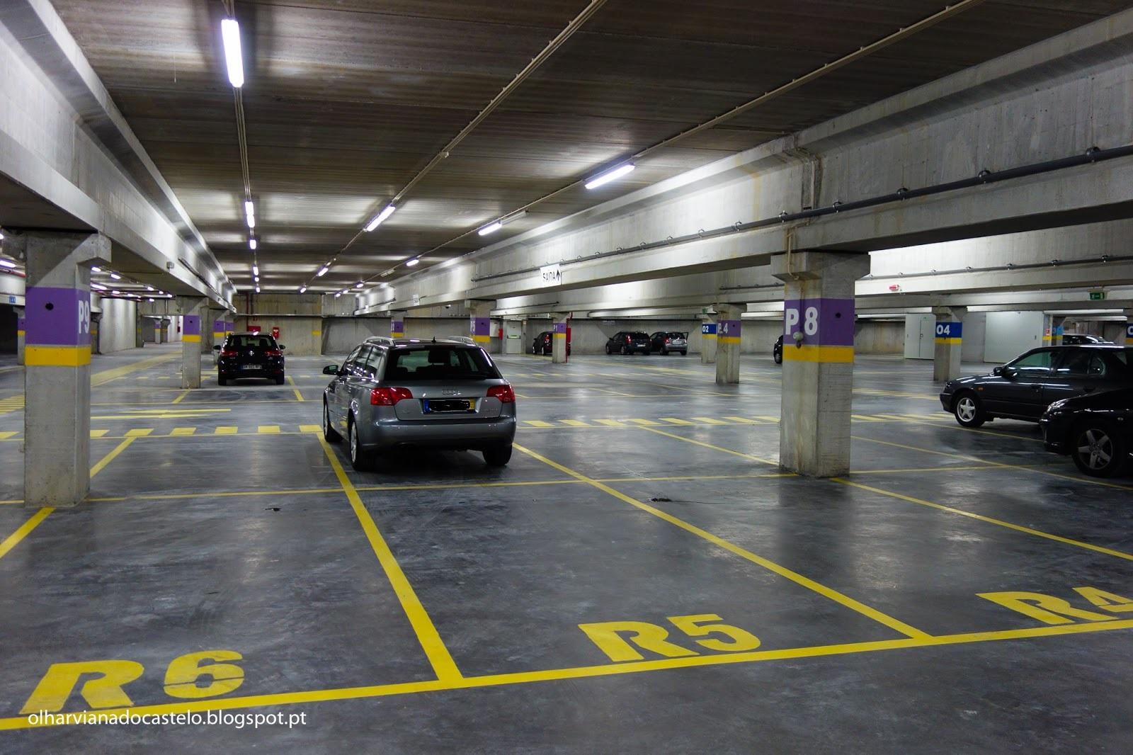 Estacionar no parque do Campo d'Agonia é gratuito a partir de 5ª feira e até dia 21