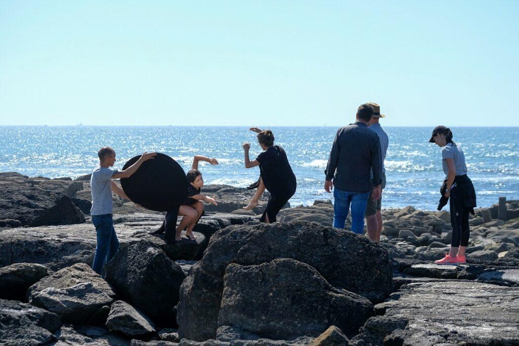 Praia Norte foi cenário de gravação do videoclipe de cantora de jazz