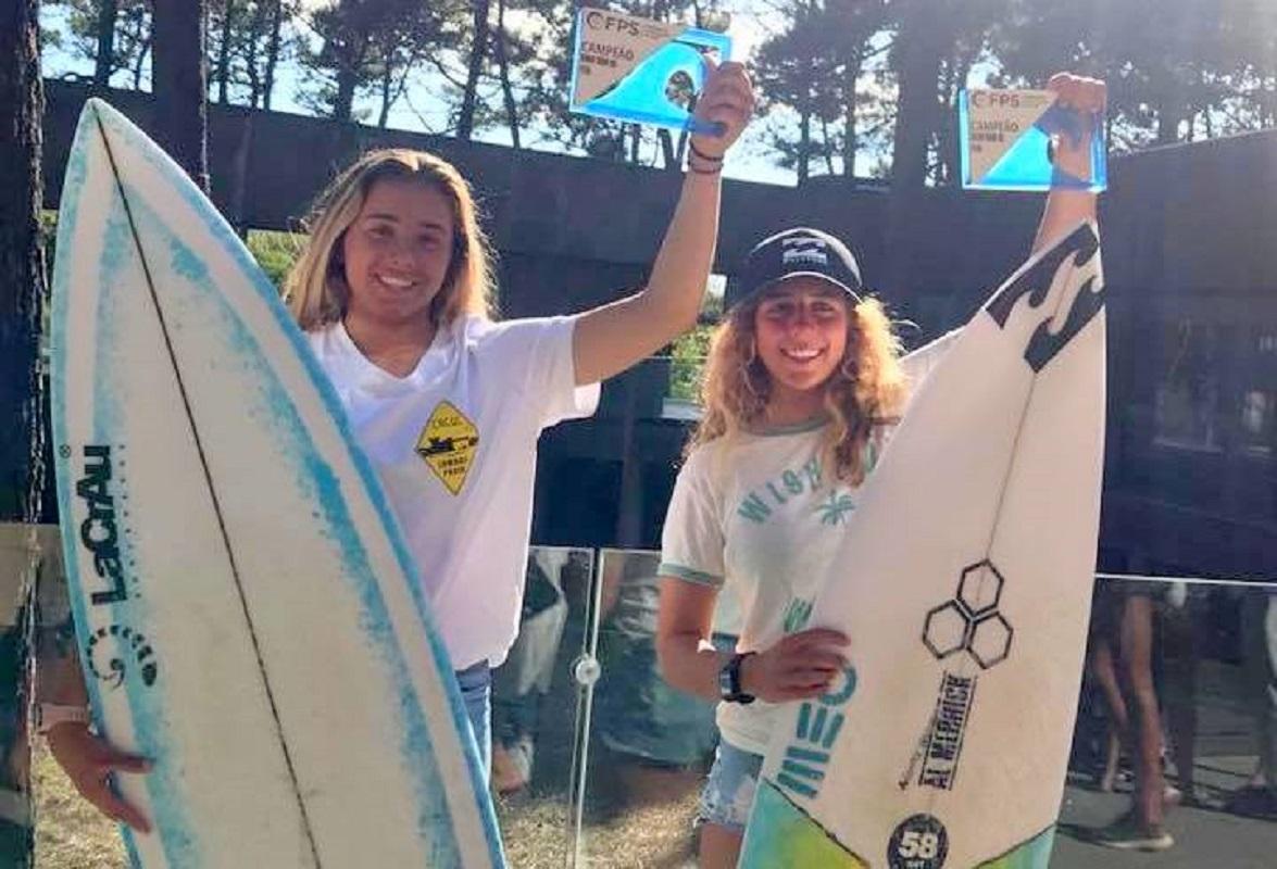 Mafalda Lopes e Gabriela Dinis conquistam títulos nacionais de surf em Viana do Castelo