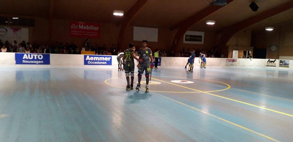 Juventude de Viana vence fora suíços do Uttigen na estreia das competições europeias de hóquei em patins.