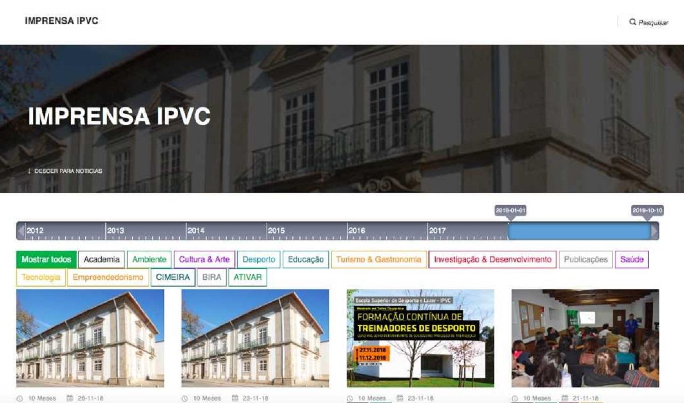 Plataforma de notícias do IPVC começa a funcionar em janeiro de 2020