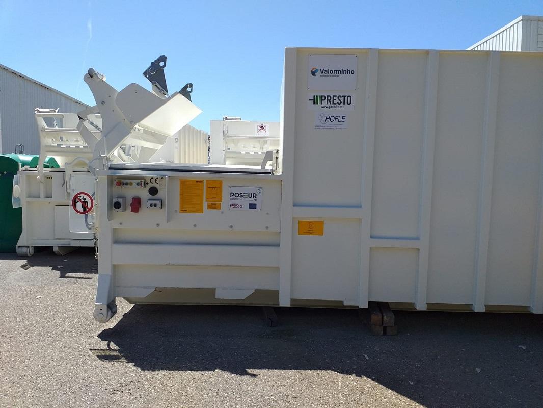 Compactador monobloco recolhe resíduos da feira e do mercado de Melgaço