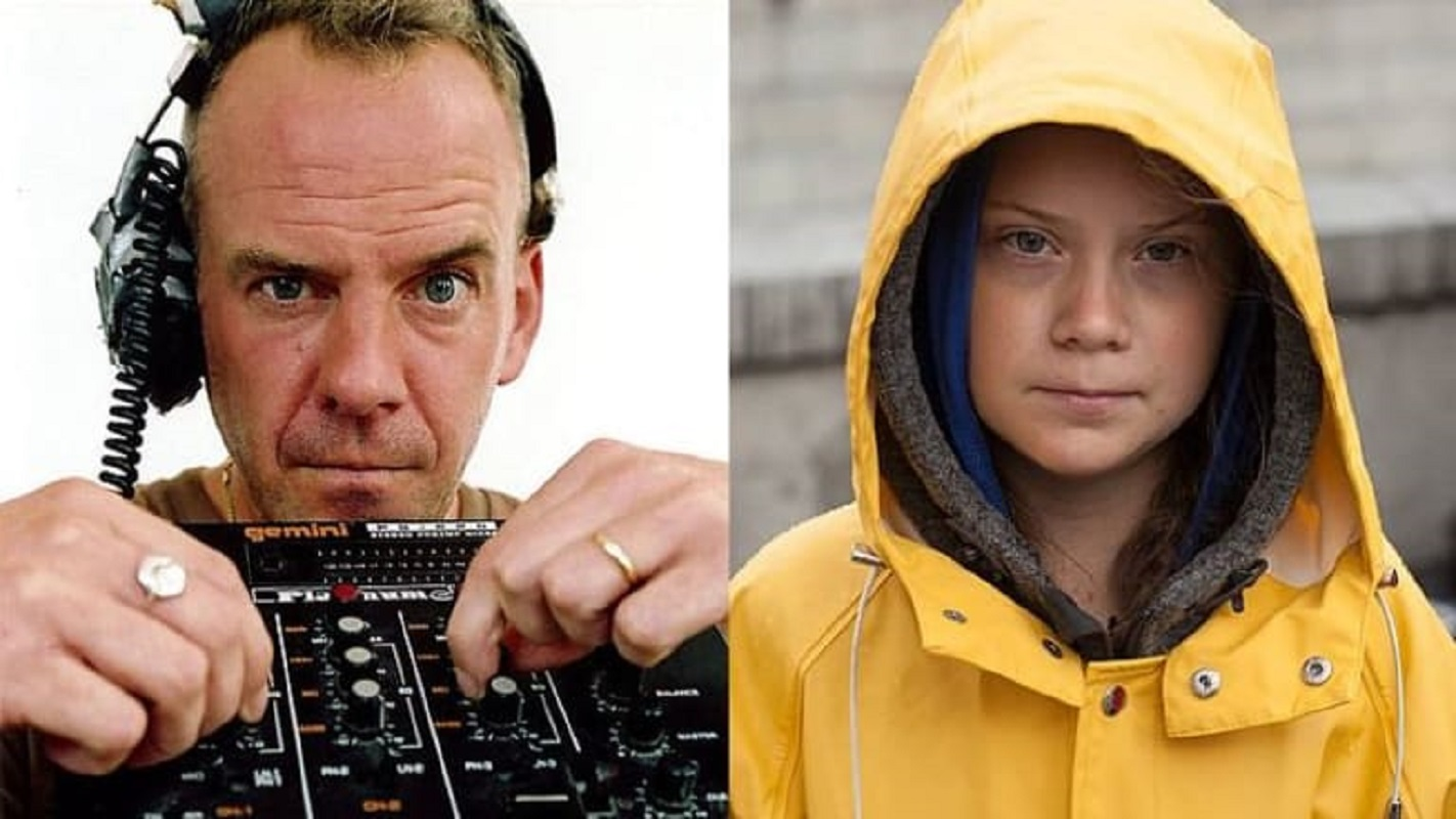 "Fatboy Slim remistura a música ""right here, right now"" com a voz de Greta Thunberg"