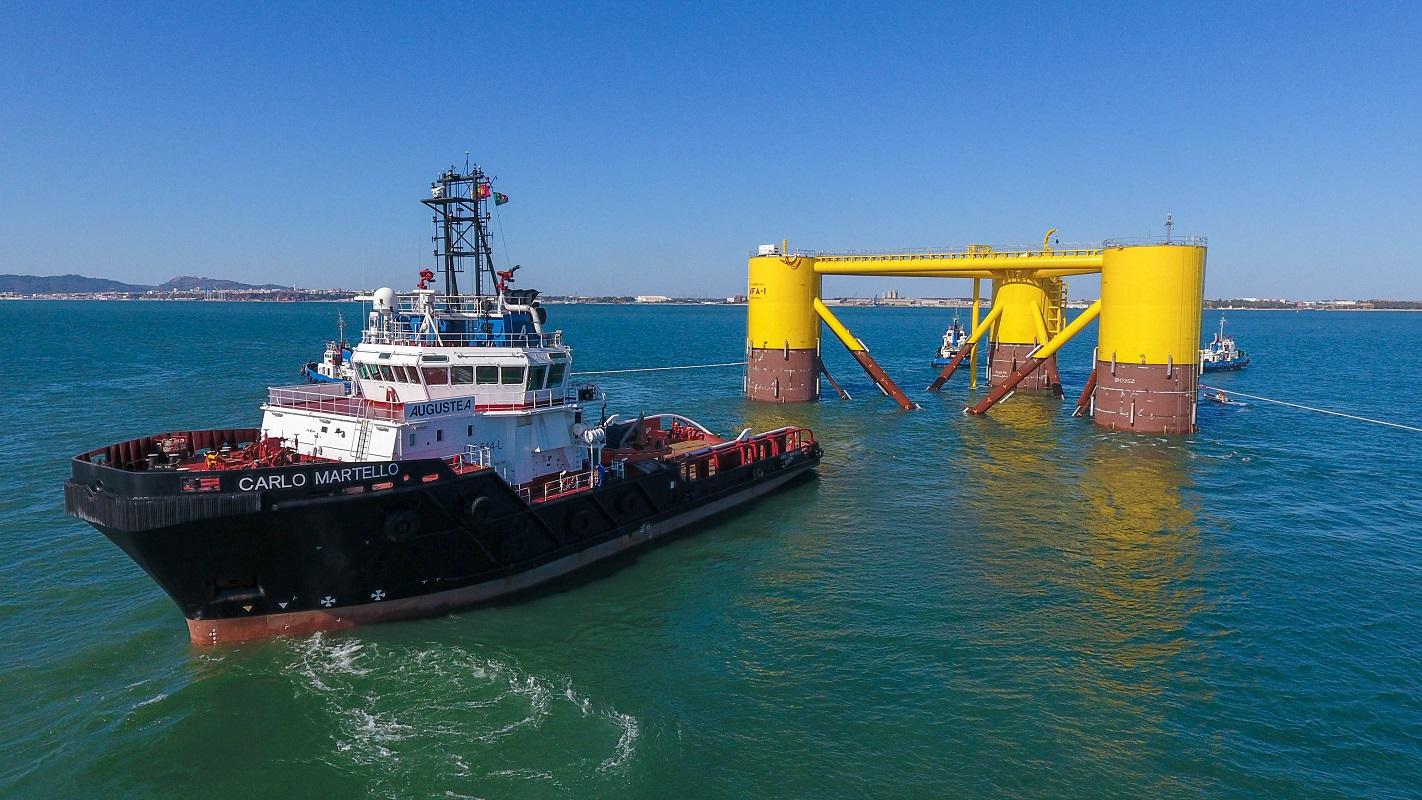 Maior produtor português de torres eólicas finaliza instalação de plataforma Windfloat ao largo de Viana