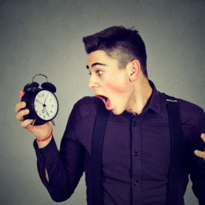 Estar sempre atrasado faz bem à saúde