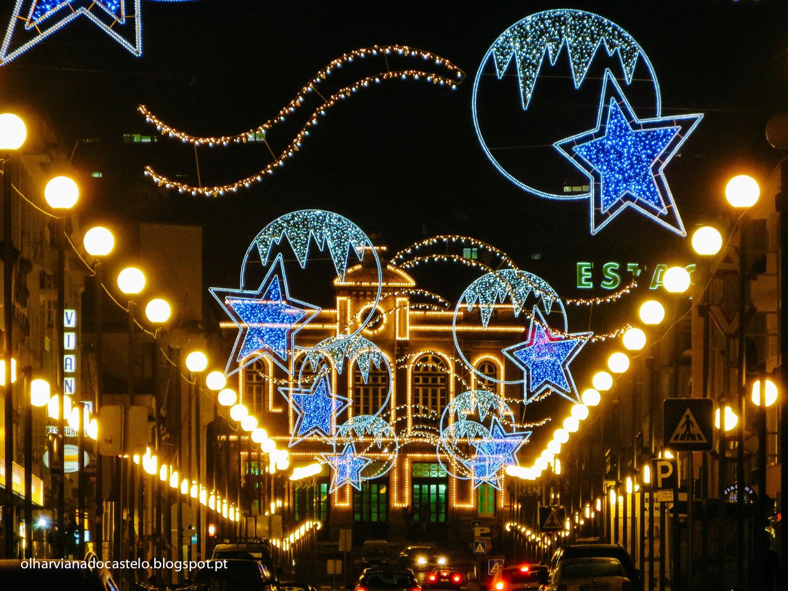 Iluminação de Natal de Viana do Castelo começa a brilhar esta quinta-feira às 18:00