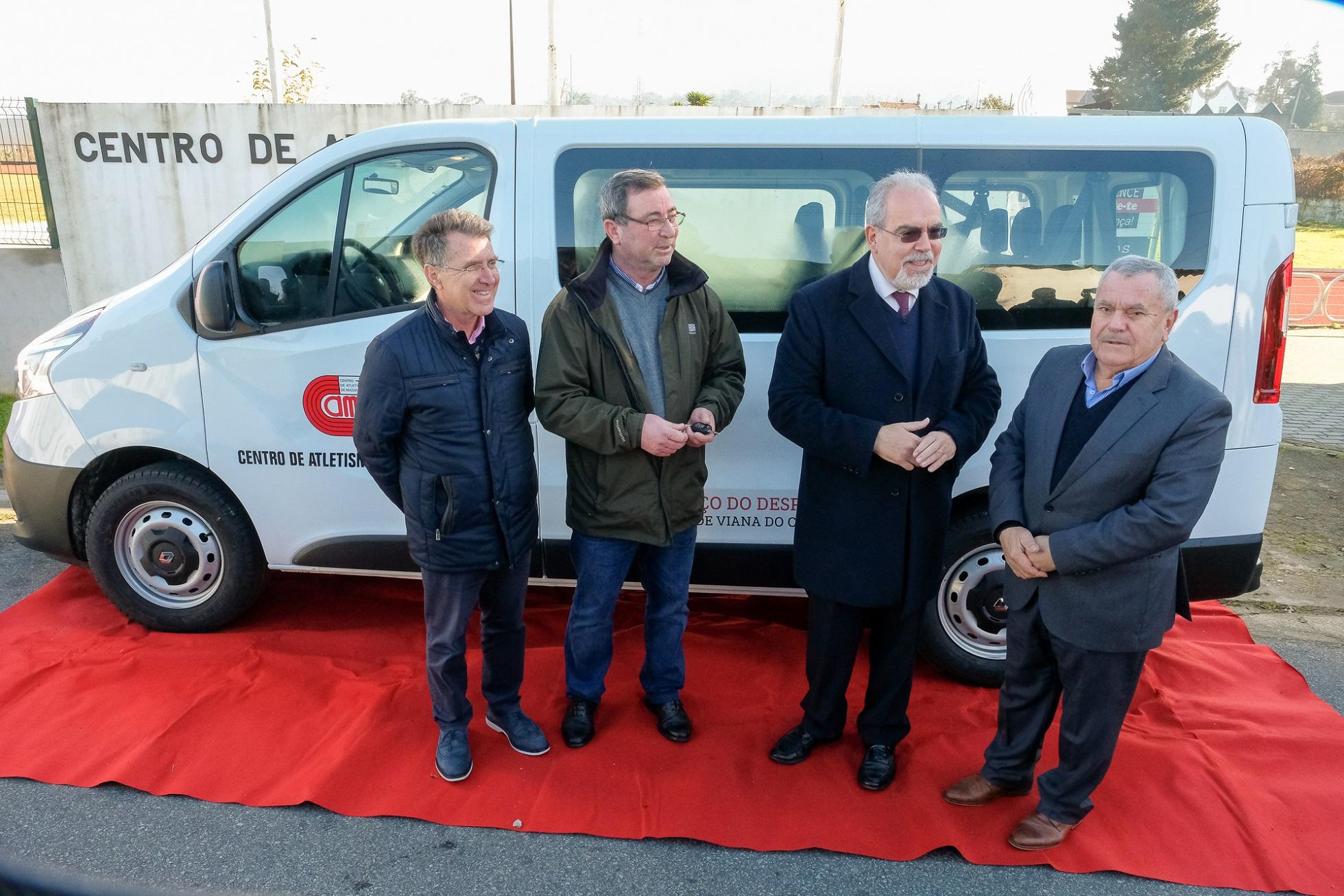 Câmara de Viana compra carrinha de 9 lugares para o Centro de Atletismo de Mazarefes