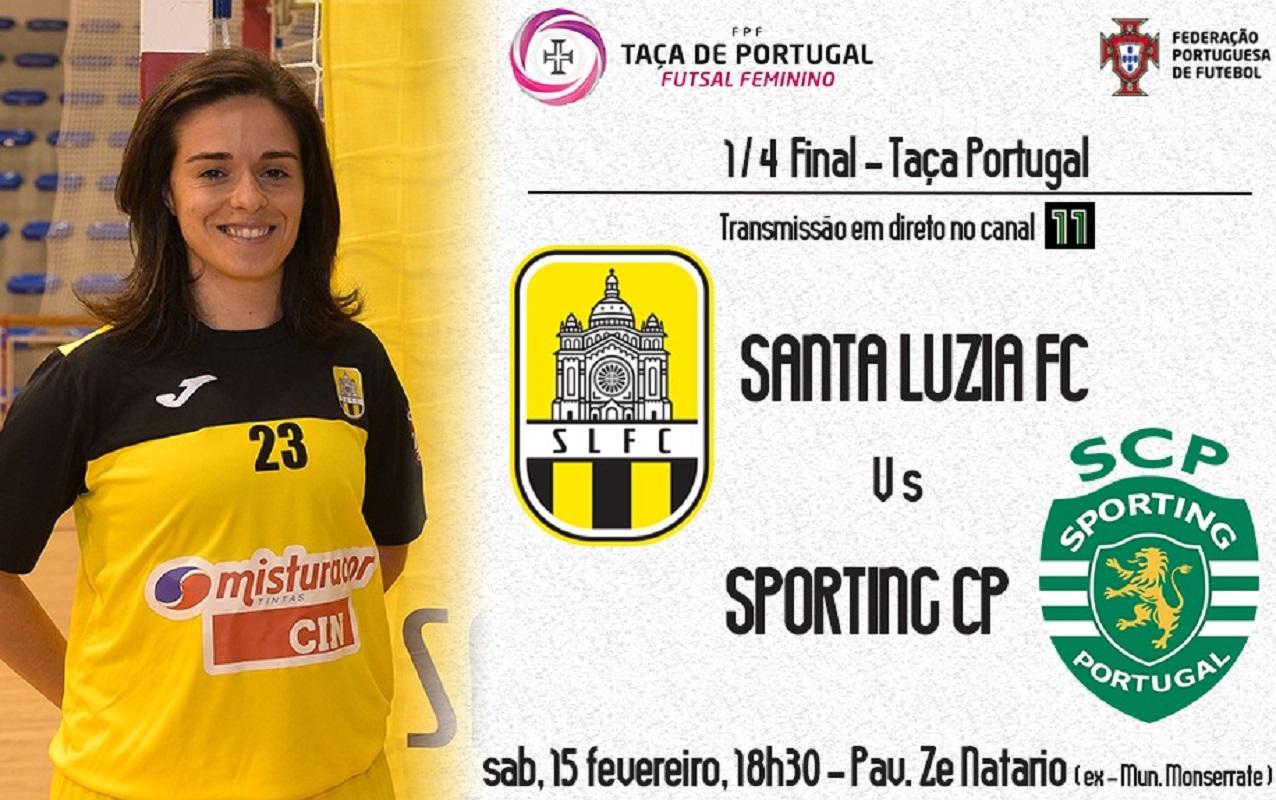Santa Luzia Futebol Clube pode fazer história, no sábado, frente ao Sporting Clube de Portugal