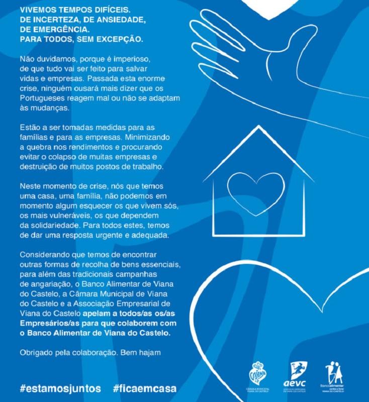 Câmara e AEVC juntam-se ao Banco Alimentar de Viana para Alimentar esta Ideia