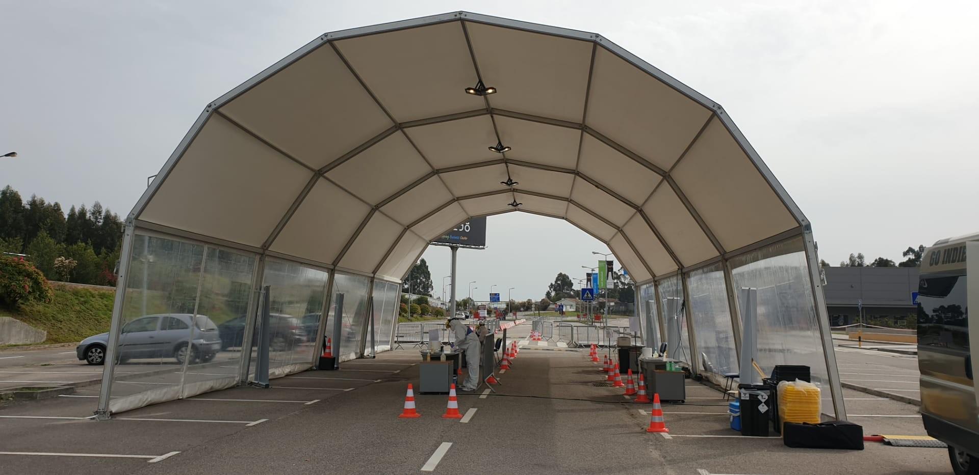 """Centro de Rastreio """"Drive Thru"""" em Viana começa a funcionar na próxima semana"""