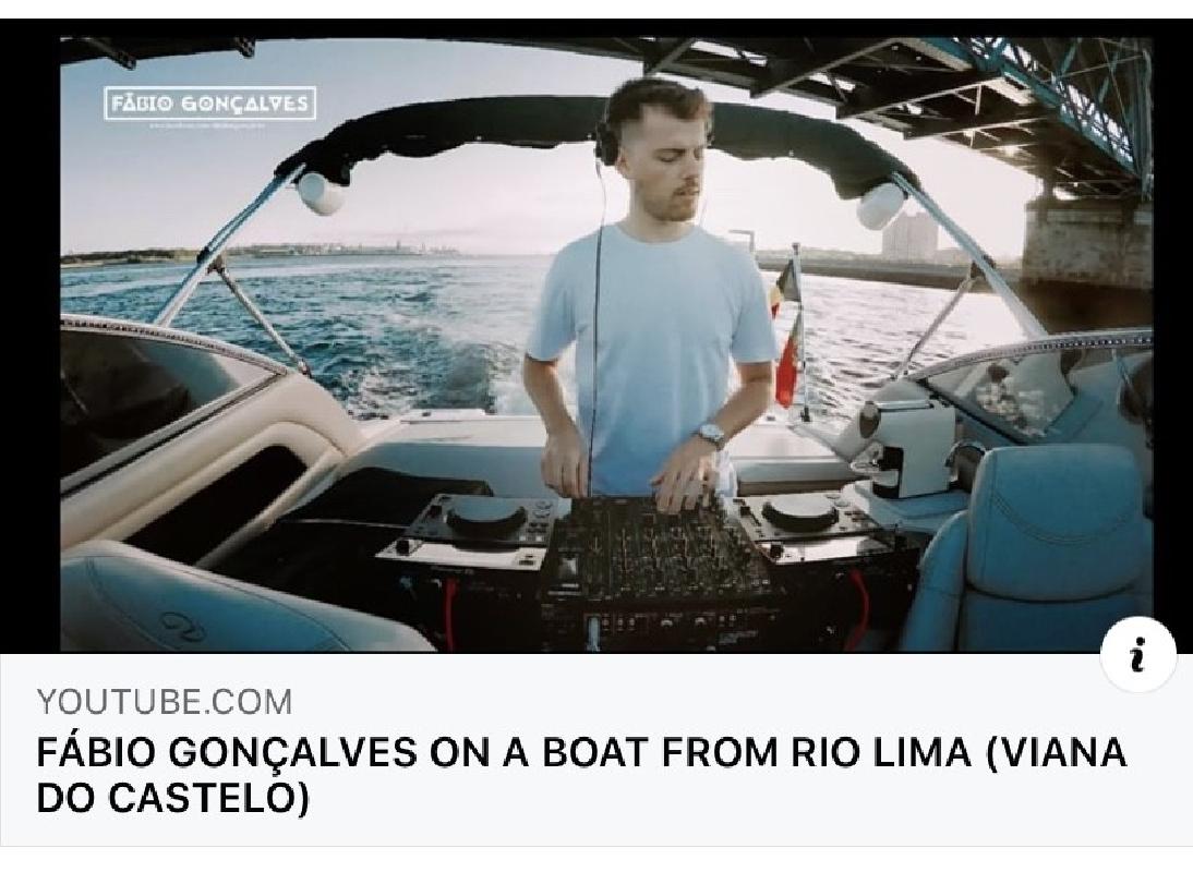 DJ Fábio Gonçalves lançou set gravado a bordo de um barco pelo rio Lima