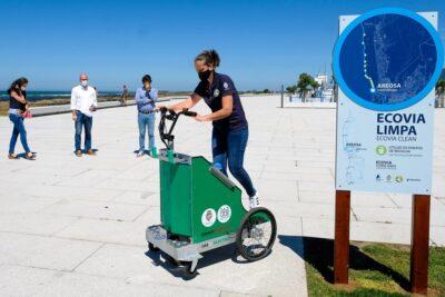 Viana inaugurou rede de recolha diferenciada de resíduos na Ecovia do Litoral Norte