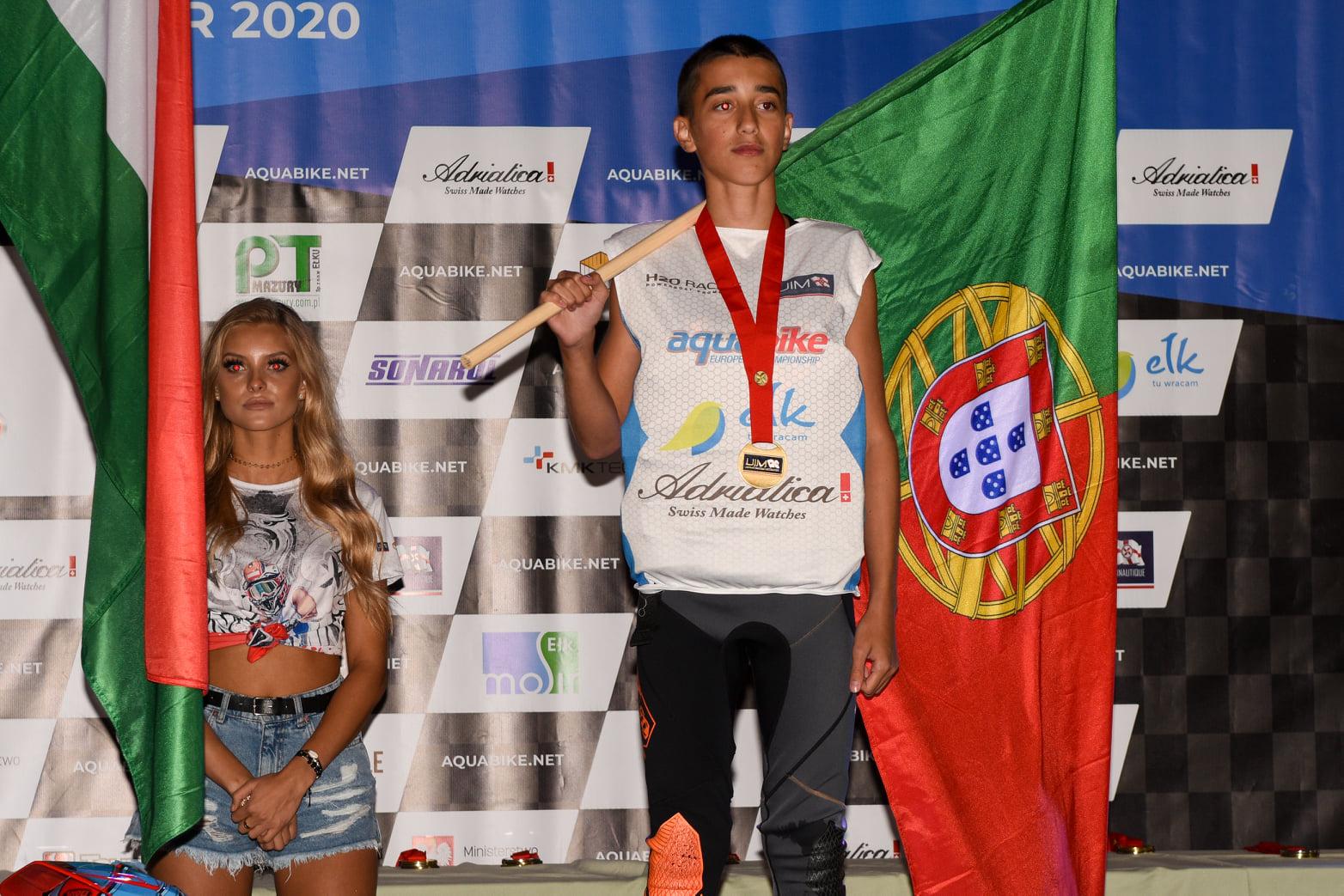 Vianense Diogo Barbosa conquistou medalha de bronze no Europeu Aquabike 2020