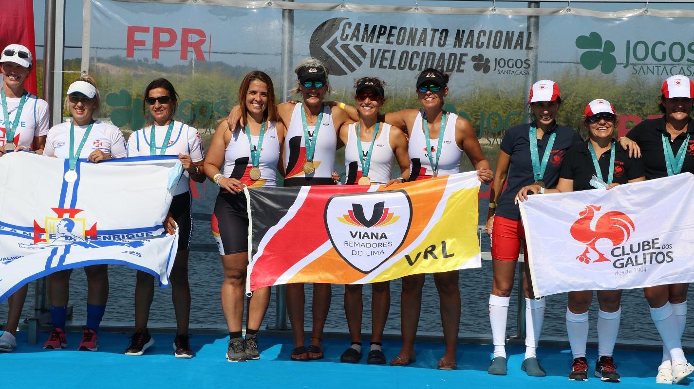 16 tripulações vianenses no pódio no Campeonato Nacional de Remo