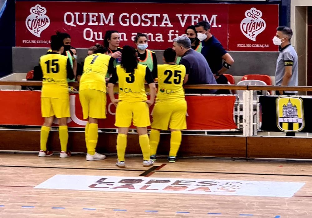 Santa Luzia FC empata frente ao Vermoim no nacional de futsal feminino