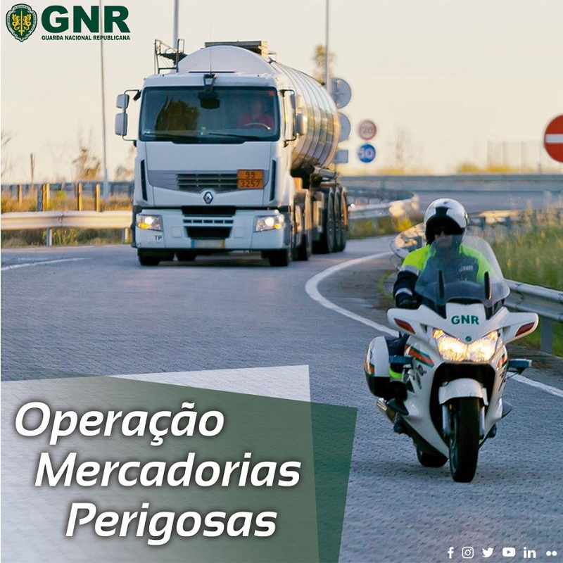 """GNR já iniciou operação """"Mercadorias perigosas"""""""