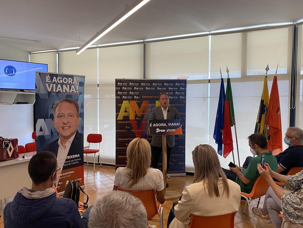 Autárquicas: Eduardo Teixeira apresentou hoje programa eleitoral da coligação assente em seis pilares de ação