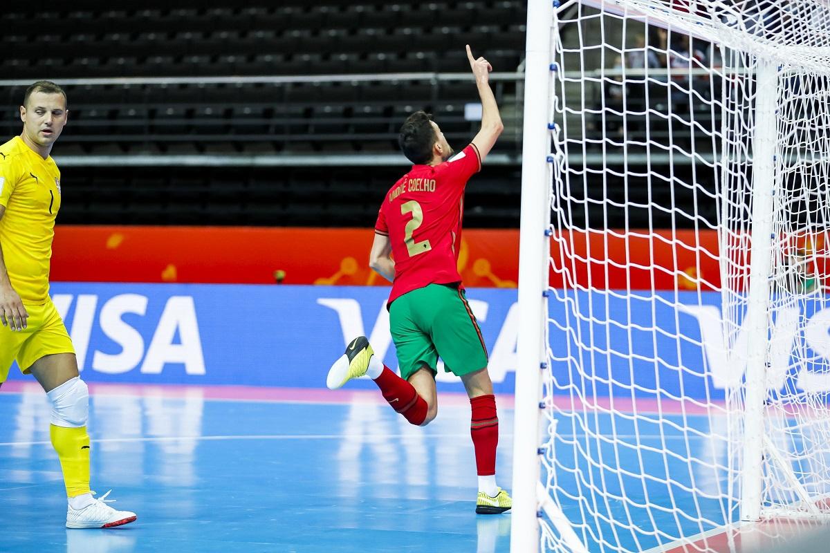 Futsal: Portugal vence Sérvia no prolongamento e joga 'quartos' do Mundial com Espanha