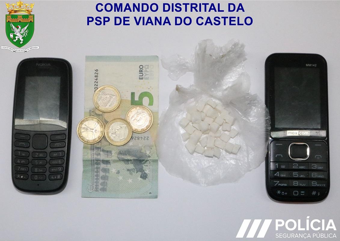 Homem de 53 anos residente em Viana do Castelo detido no Porto por tráfico de droga