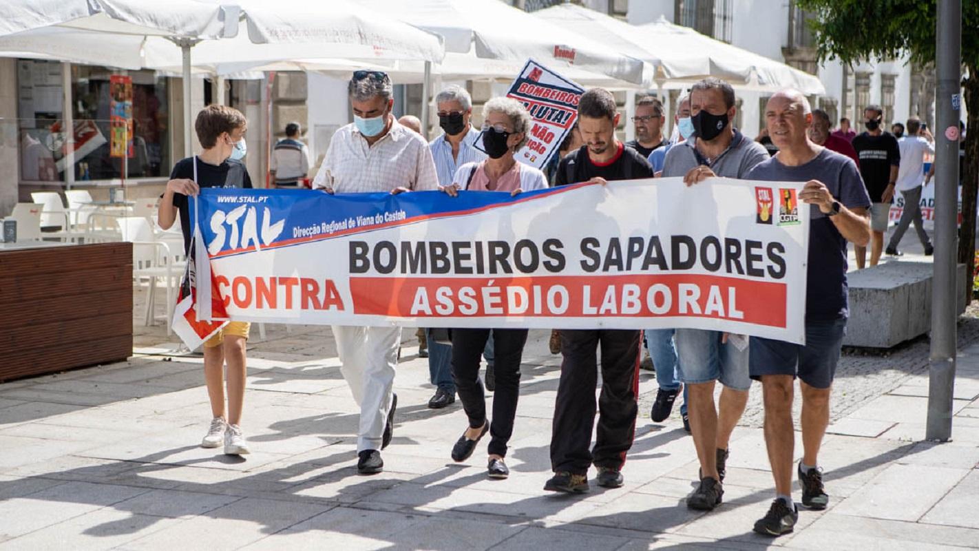 Bombeiros Sapadores de Viana do Castelo voltaram à rua em protesto