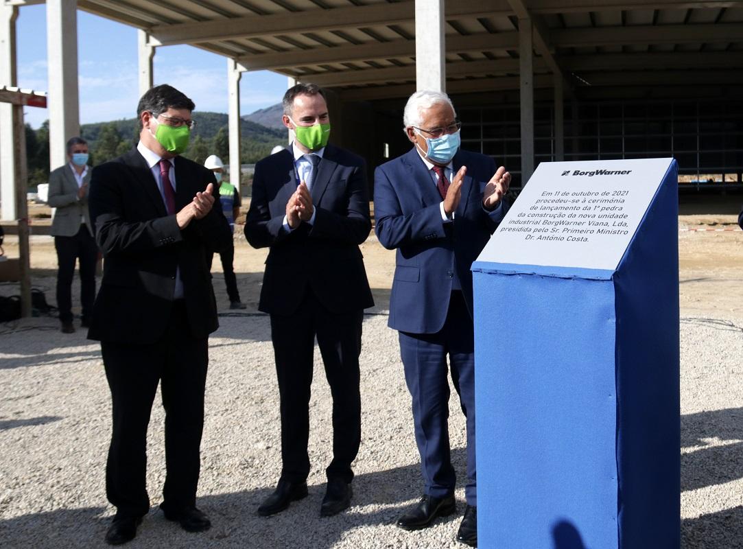 Viana do Castelo: António Costa lançou primeira pedra da nova fábrica da BorgWarner no parque empresarial de Lanheses